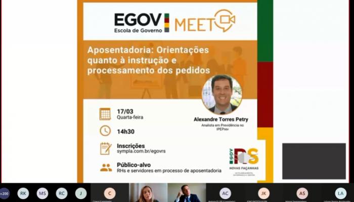 EGOV MEET – Aposentadoria: orientações quanto à instrução e processamento dos pedidos